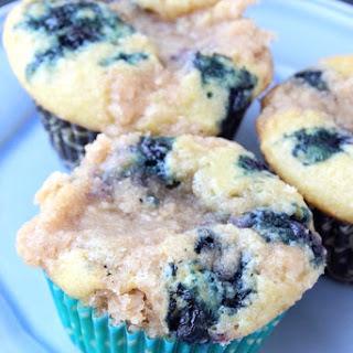 Coconut Oil Vanilla Blueberry Coffee Cake Muffins