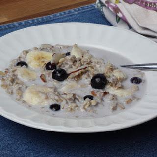 Brown Sugar Blueberry Banana Crockpot Oatmeal
