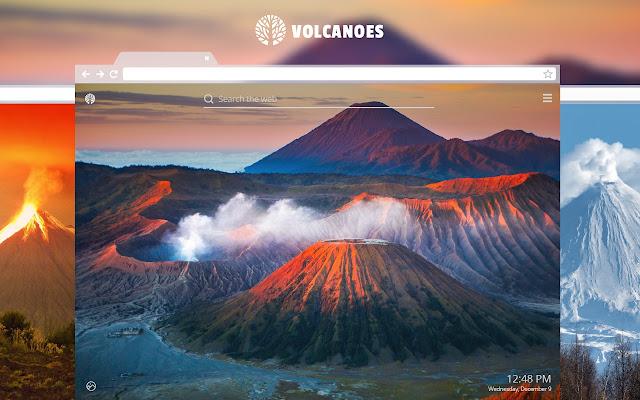 Volcanoes HD Wallpaper New Tab Theme