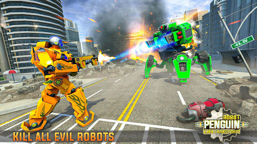 Penguin Robot Car Game: Robot Transforming Games 4 screenshots 12