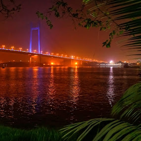 Evening raga by Caesar Jees - City,  Street & Park  Night ( city scape, water, nighttime in the city, night life, park at night, street at night, city lights, bridge, city at night, light, nightlife, city )
