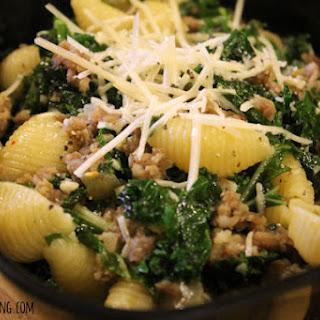 One Pan Italian Sausage and Kale Pasta.