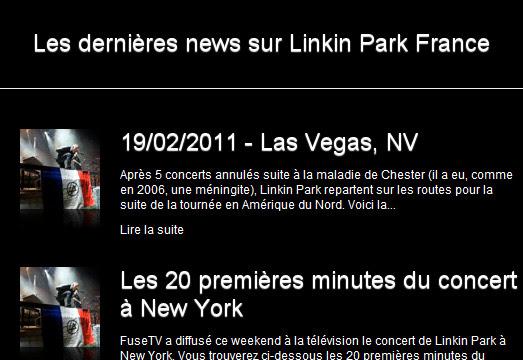 Linkin Park France - News