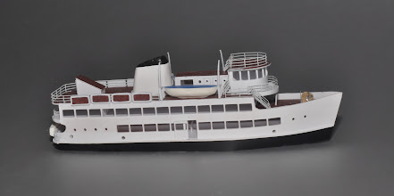 Photo: Profile View of Z Scale Harbor Cruise Ship—the Port Welcome, 125' (7 inches) long.