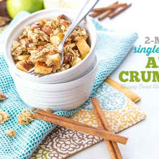2-Minute Single Serving Apple Crumble.