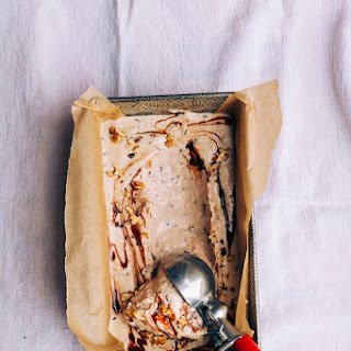 Raw + Vegan Chunky Monkey Ice Cream.