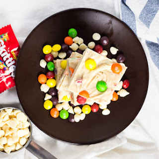 Skittles White Chocolate Fudge.