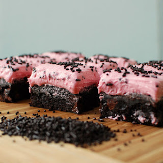 Brownies with Raspberry Frosting
