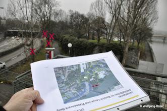 Photo: Rechts der B10 soll der Grünstreifen mit Bäumen gerodet werden