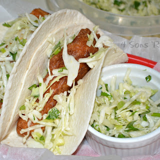 Beer-Battered Fish Tacos with Cilantro Slaw Recipe