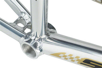 """Staats Bloodline SuperMoto30 Junior Frame 18.5"""" Top Tube Silver Arrow Polished alternate image 0"""