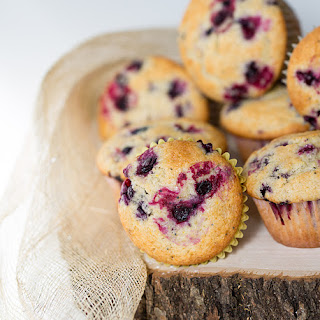 Almond Poppyseed Huckleberry Muffins +