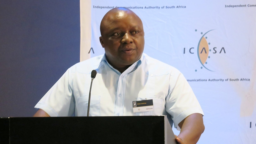 Rubben Mohlaloga has been removed from his post as chairperson of the ICASA council.