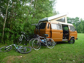 Photo: camping, with bikes this was the first overnight trip