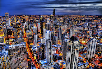 Photo: My Kinda Town - Chicago Skyline  I took this at the top of the John Hancock this evening as night fell.  It was done with 9 exposures. I figured, why the heck not.  from Trey Ratcliff at stuckincustoms.com