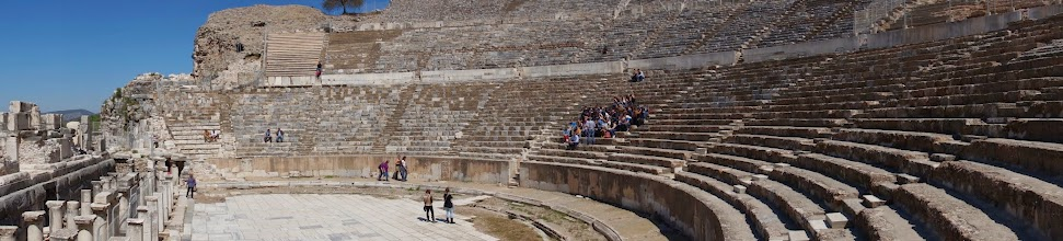 Photo: a greek theatre converted to roman standards