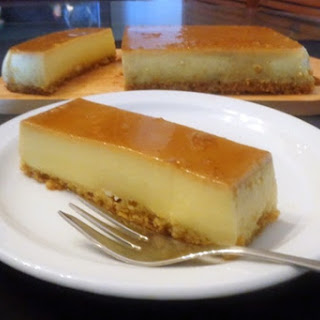 Almond Milk Pudding Cake with Dairy-Free Caramel Sauce