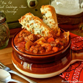 Hearty Unstuffed Cabbage Soup with Sausage.