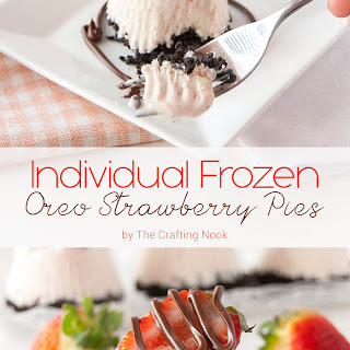 Individual Frozen Oreo Strawberry Pies.
