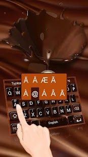 Chocolate Silk Keyboard Theme - náhled