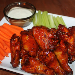 Baked Honey Barbecue Wings.