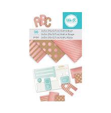 We R Memory Keepers Paper Pad 3X5 - Kraft W/Blush Foil UTGÅENDE