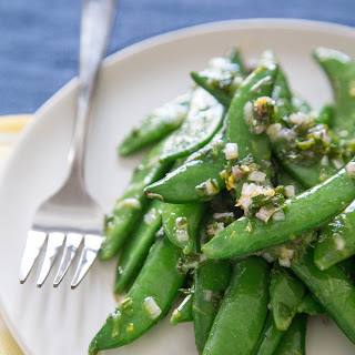 Snap Peas with Meyer Lemon and Mint.