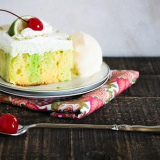 Creamy Lime Poke Cake.