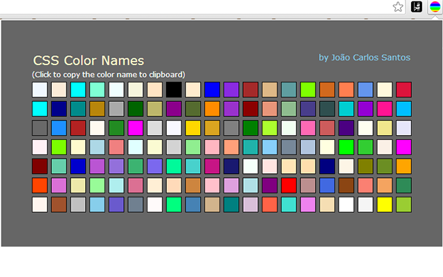 CSS Color Names