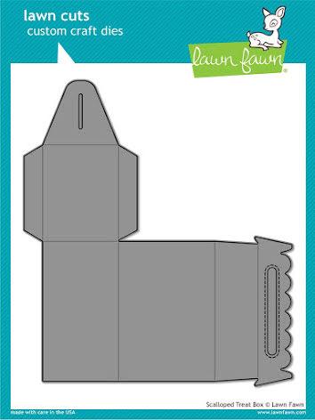 Lawn Fawn Custom Craft Die - Scalloped Treat Box