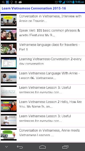 Learn Vietnamese Conversation