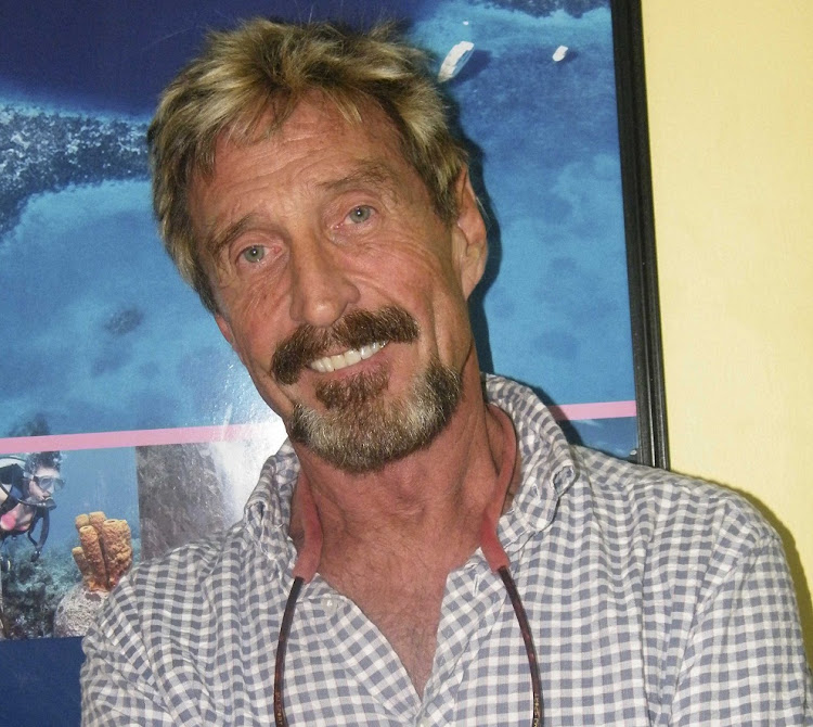 Anti-virus software pioneer John McAfee. Picture: REUTERS