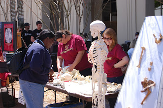 Photo: Dr. Mayar and a few old friends at Klieman Plaza.  Yes, that is a  Lucy cast on the board at the right.