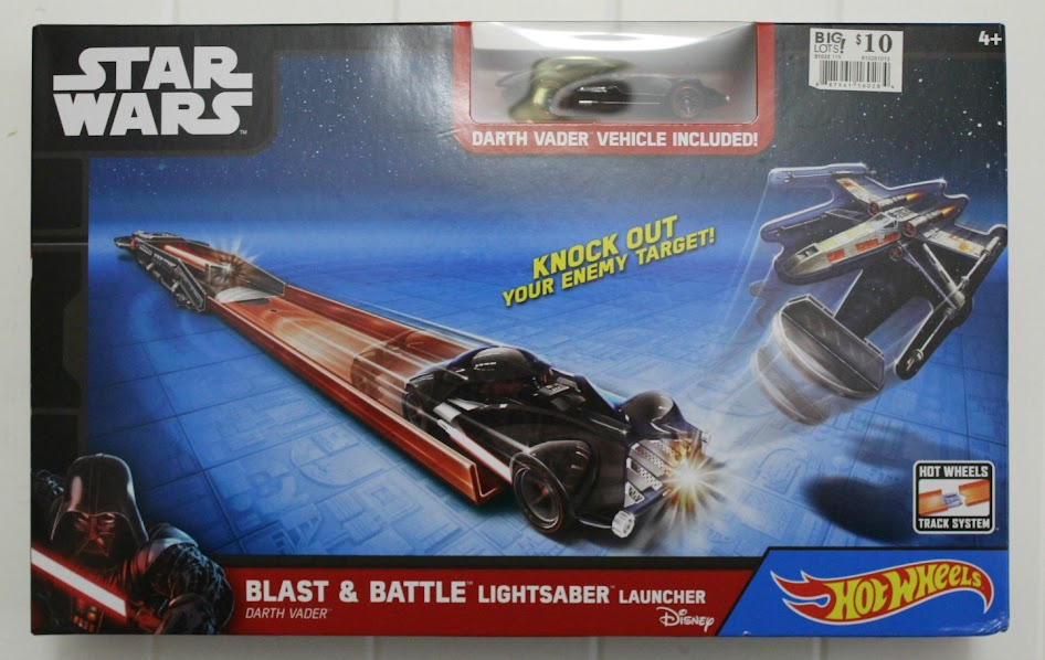 Star Wars Hot Wheels Blast & Battle Lightsaber Launcher - Darth Vader