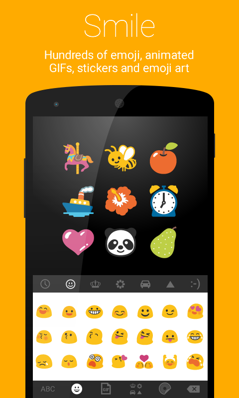 Ginger Keyboard Emoji Keyboard- screenshot