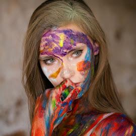 Mishca by Gavin Smith - People Portraits of Women ( beauty, body paint, model, portrait, fashion )