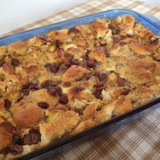 Cranberry Eggnog Bread Pudding.