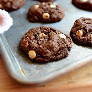 Chocolate Chocolate White Chocolate Chip Cookies.