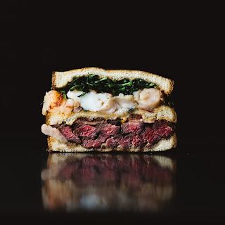 Steak and Miso Butter Lobster Sandwich.