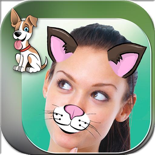 可爱 动物脸 贴纸 对于照片图片编辑器 攝影 App LOGO-APP開箱王