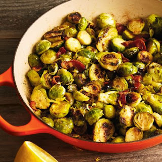 Caramelized Brussels Sprouts with Bacon and Thyme Recipe