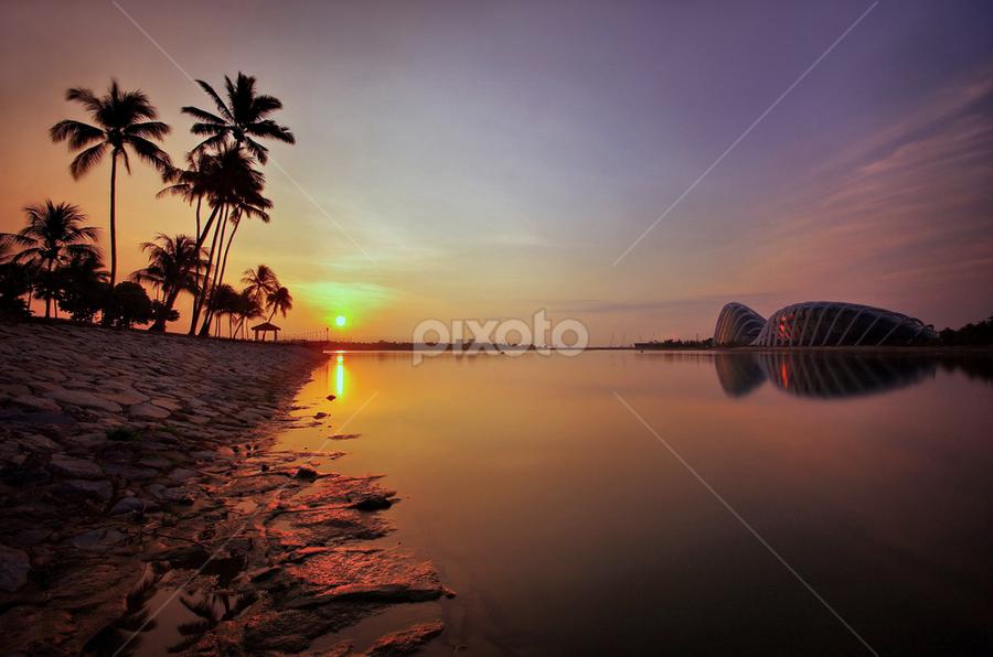 Marina Bay Sunrise by Ken Goh - Landscapes Sunsets & Sunrises