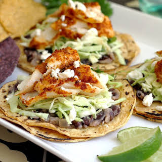 Easy Fish Tacos with Cilantro-Lime Slaw.