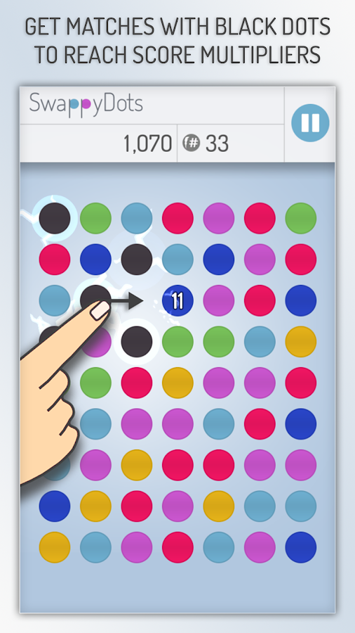 SwappyDots - Match 3 Puzzle- screenshot