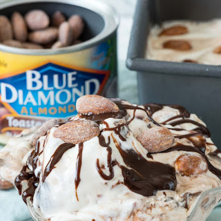 No Churn Almond Fudge Ice Cream