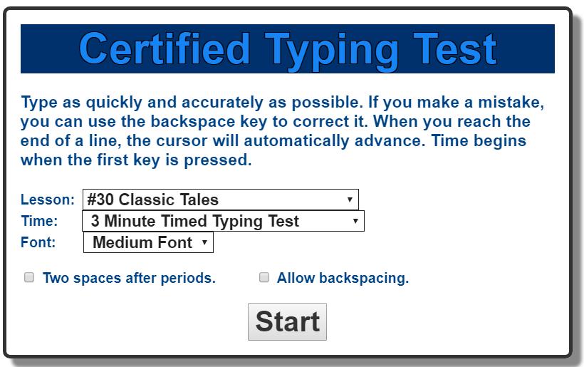 lpcomputerlab: Grade 4- Typing Test, Lesson #30