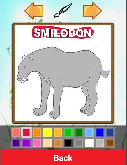 Скриншот Jurassic Dino Coloring Book