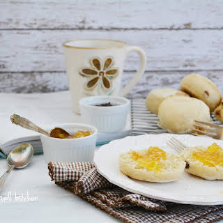 English Muffins with Raisins and Dried Apricots.