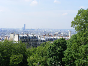 Photo: The view of the city is good this morning, with the Montparnasse Tower (not a favorite of many Parisians) standing out.