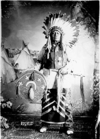 Photo: Chase The Bear (aka Chasing Bear, aka Paul Brave) Hunkpapa/Sihasapa - 1911